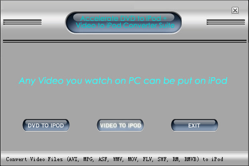 Accelerate iPod Converter Suite screenshot